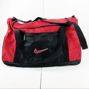 Nike Red and Black Large Athletic Gym Duffle Bag